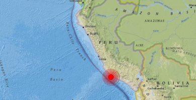 Al menos dos muertos y 65 heridos tras un terremoto en Perú