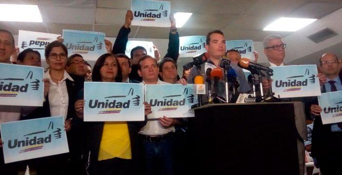La MUD confirma su asistencia a la mesa de negociación con el Gobierno de Venezuela el 29 de enero