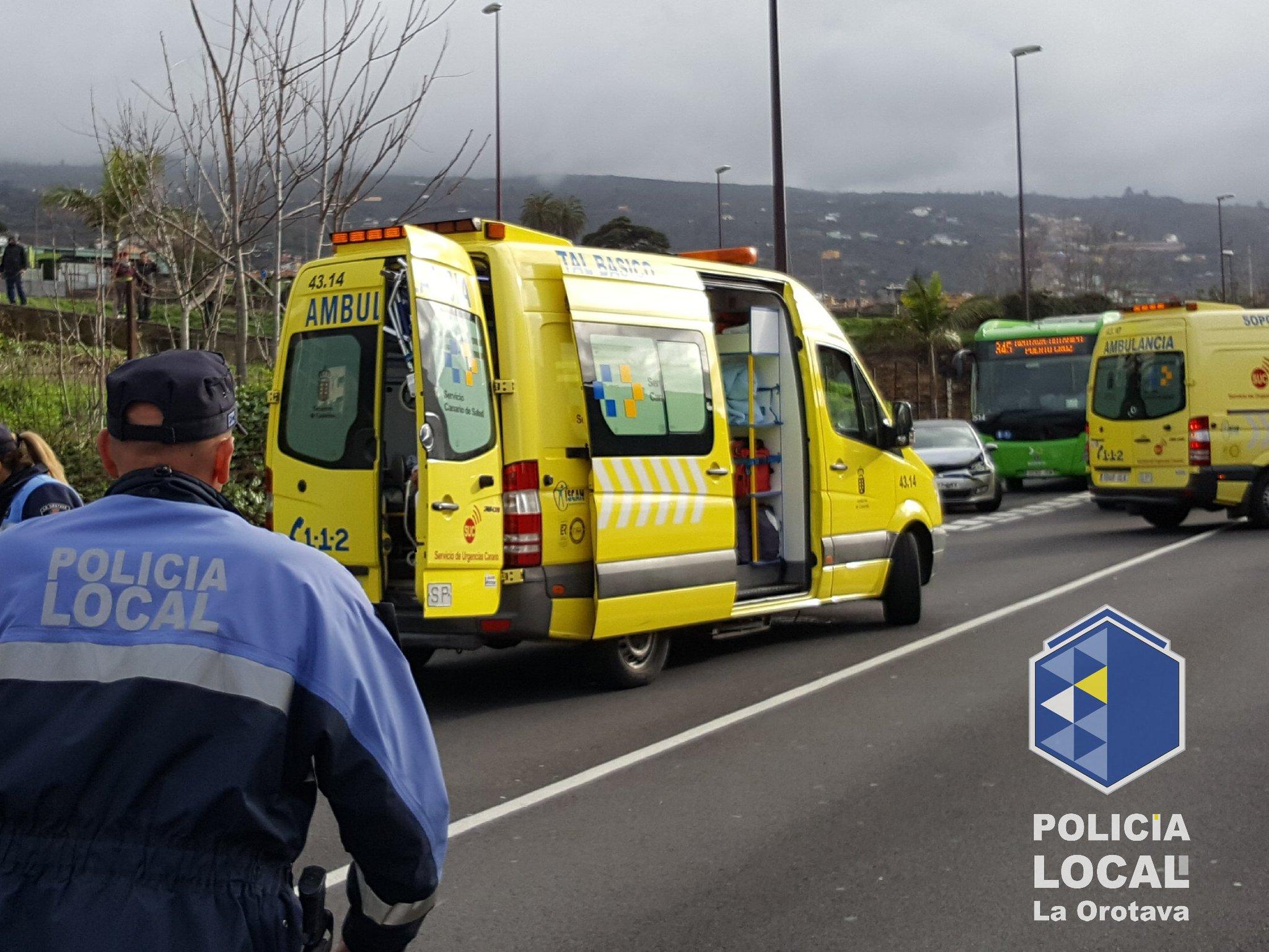 Imagen del accidente. / Área de Seguridad de La Orotava