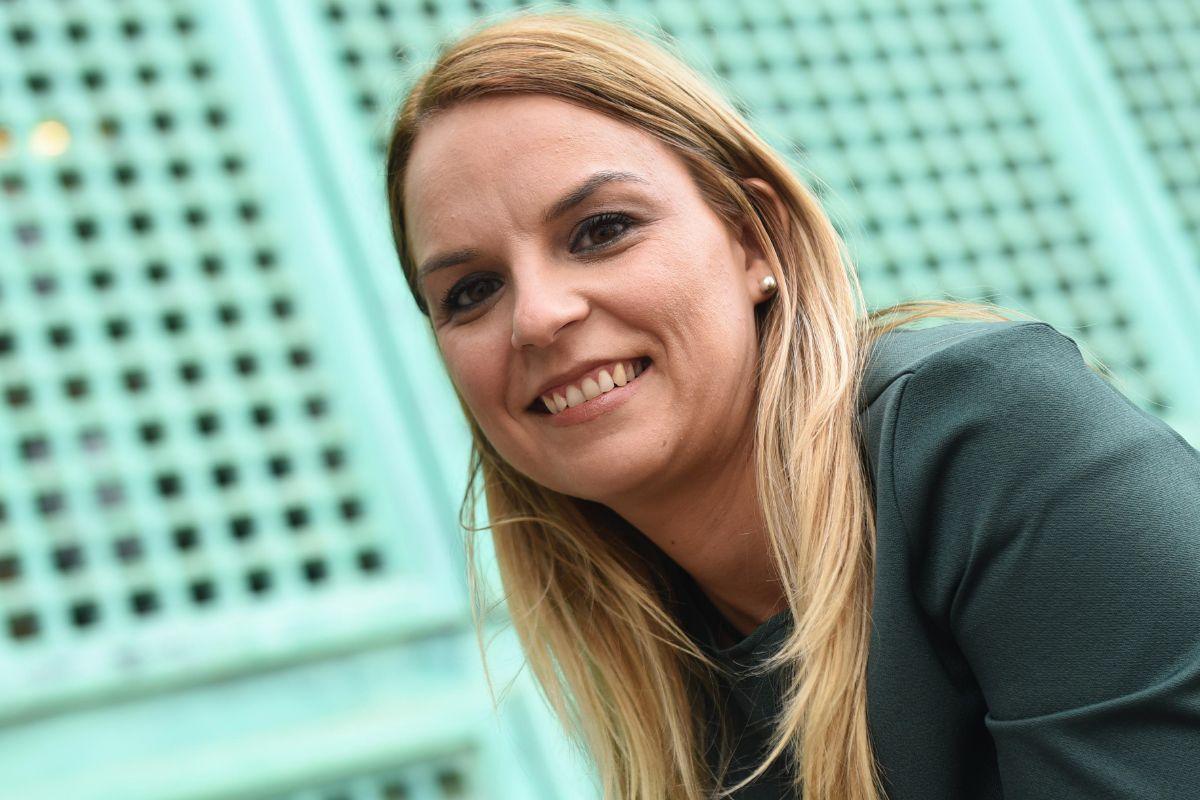 Noemí Santana Perera, secretaria general de Podemos en Canarias y portavoz parlamentaria. / SERGIO MÉNDEZ