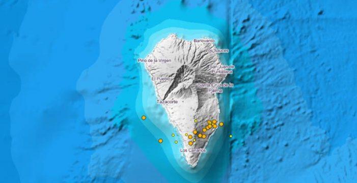La actividad sísmica bajo el Volcán Cumbre Vieja no cesa