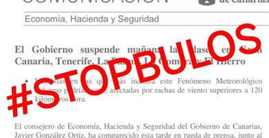 No, no se han suspendido las clases en Canarias por el temporal