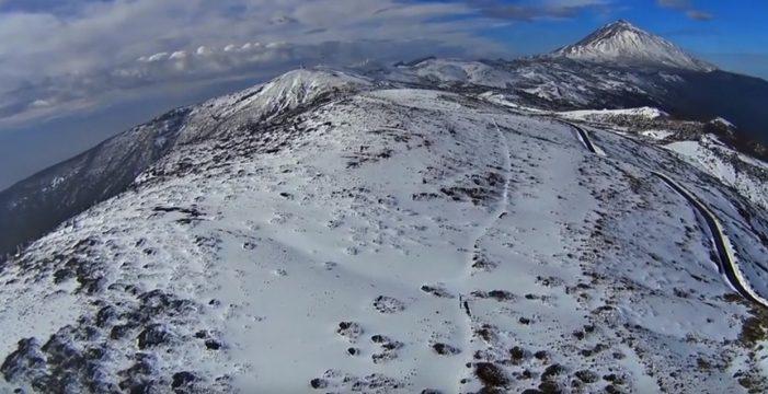 La espectacular nevada en Tenerife, vista desde el cielo