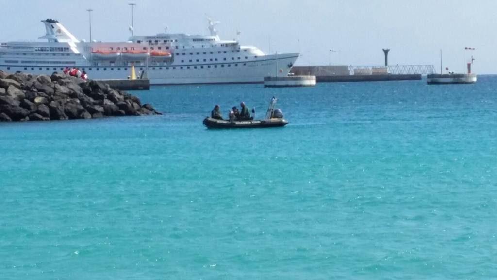 Tratan de rescatar a un delf n en el muelle de puerto del rosario - Farmacia guardia puerto del rosario ...