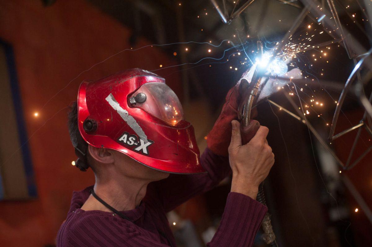 La mayor parte del taller de Julio Nieto está ocupado en la         actualidad por una gran sabina futurista, que una vez terminada partirá hacia Berlín por encargo de un particular. Fran Pallero