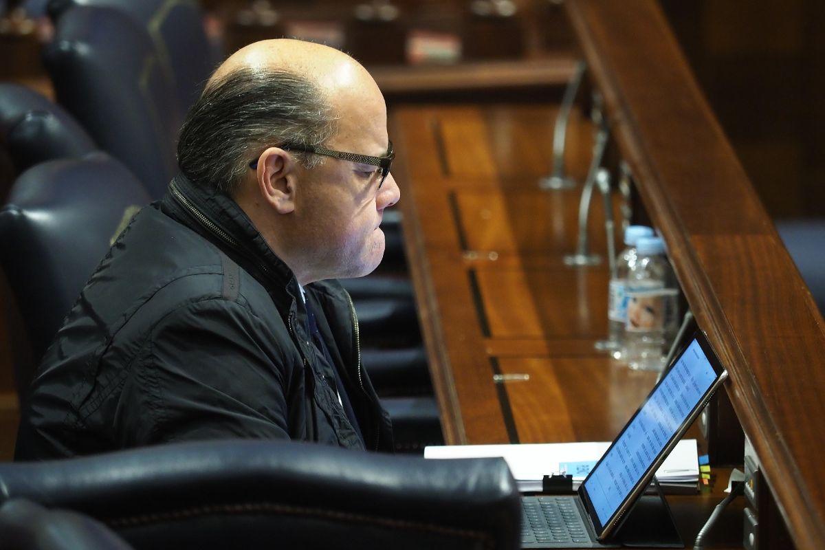 José Miguel Barragán, consejero de Presidencia, Justicia e Igualdad y secretario general de CC. Sergio Méndez