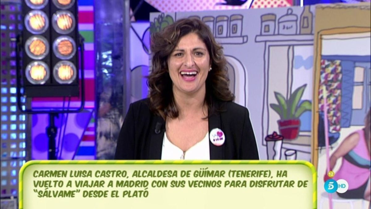 Carmen Luisa Castro, en el plató de `Sálvame'. / TELECINCO
