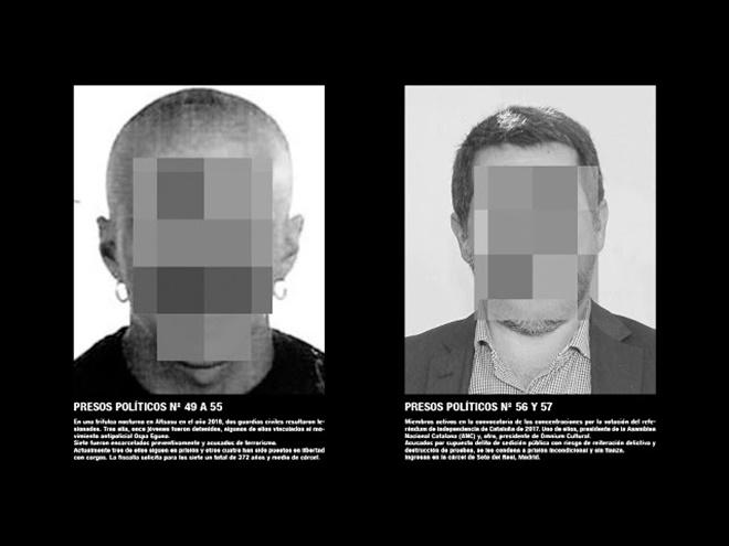 La obra de Santiago Serra 'Presos políticos'. / EP