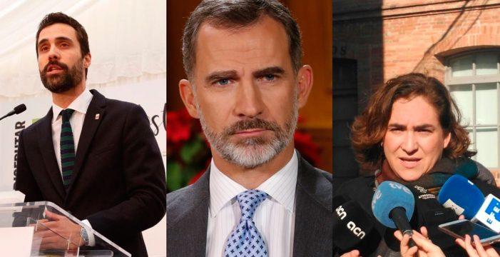 Torrent, Colau y la Generalitat plantarán al rey en la recepción del Mobile World Congress