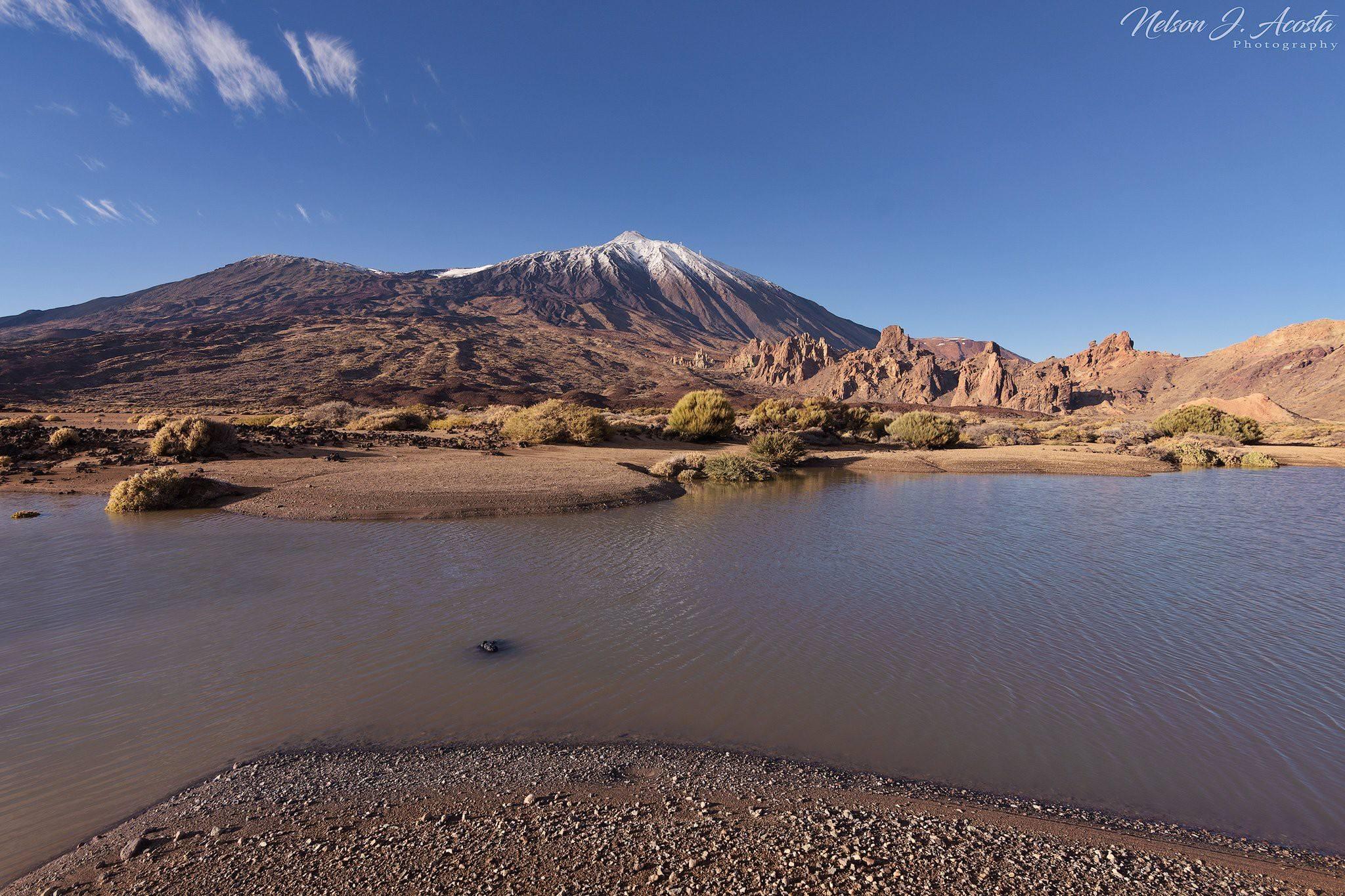 Charcos en el Llano de Ucanca. / AGMT - Actualidad geográfica y meteorológica Tenerife