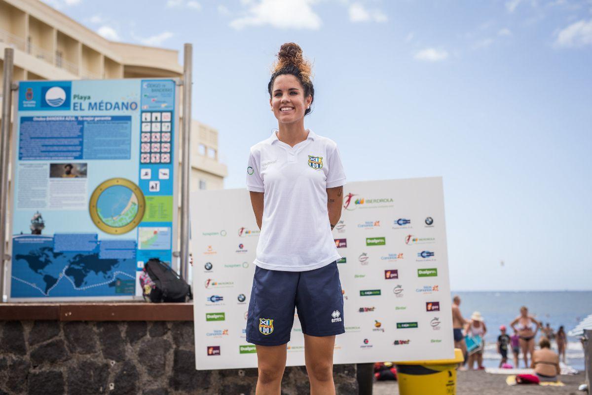 Cindy García, jugadora y capitana de la UD Granadilla Tenerife Egatesa./Andrés Gutiérrez