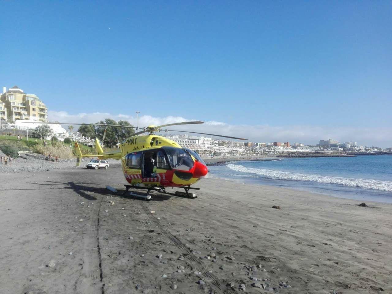 Helicóptero en la Playa de Fañabé | DA