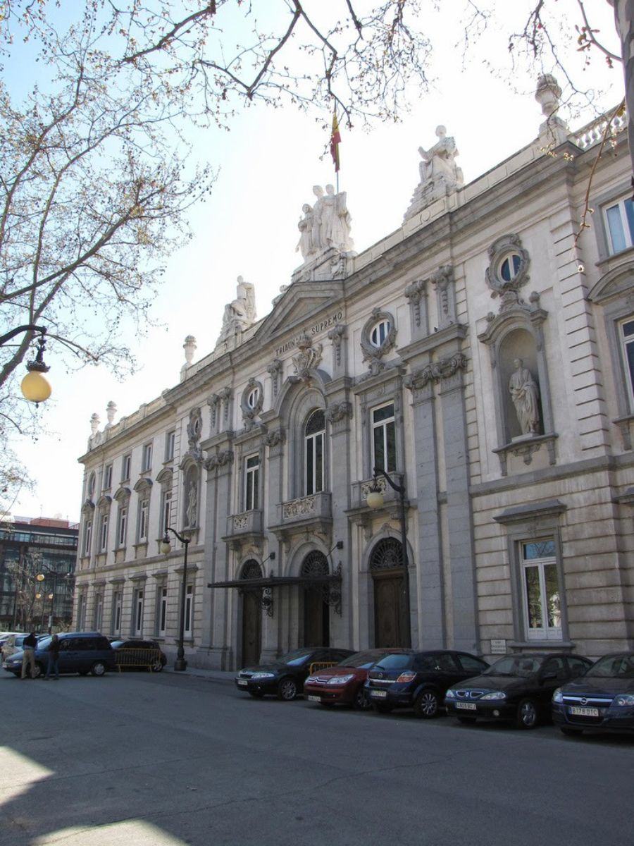 Fachada de la sede del Tribunal Supremo. DA