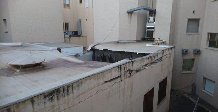 Se desploma parte del techo del conocido como Hospital del Tórax