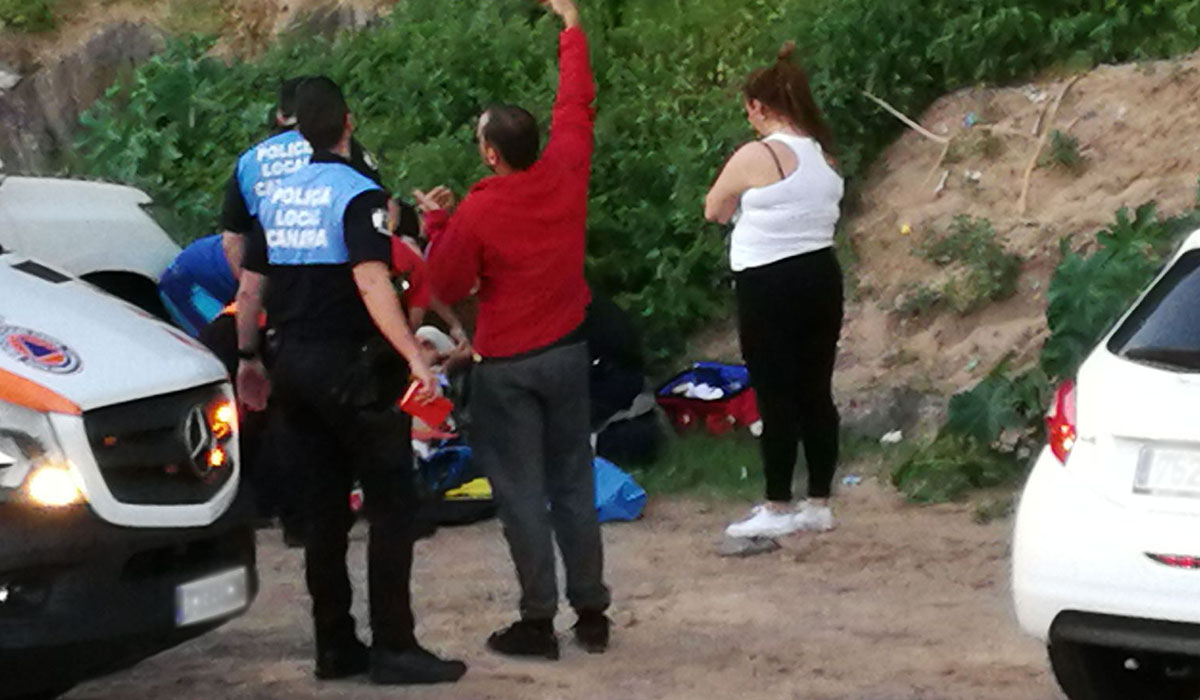 Lugar del accidente cerca de la playa de Las Teresitas. DA