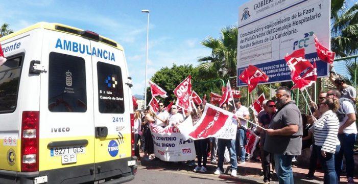 """CC.OO. asegura que la huelga de las ambulancias """"colapsa"""" los hospitales"""