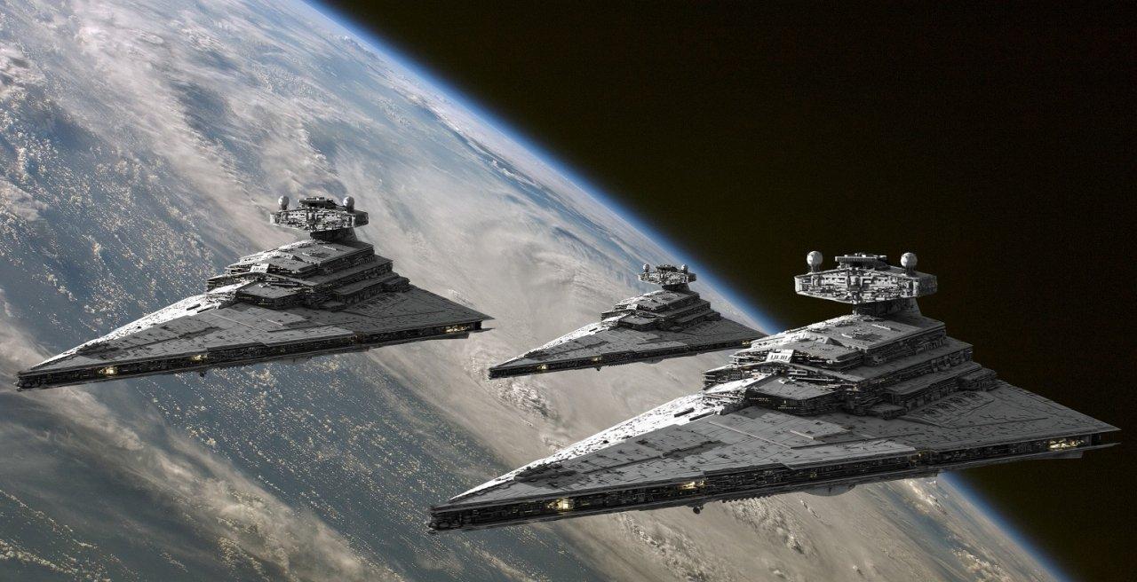 Cruceros imperiales de la saga 'Star Wars'. / LUCASFILMS