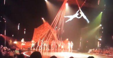 El trapecista, antes de tener el accidente mortal. / EE