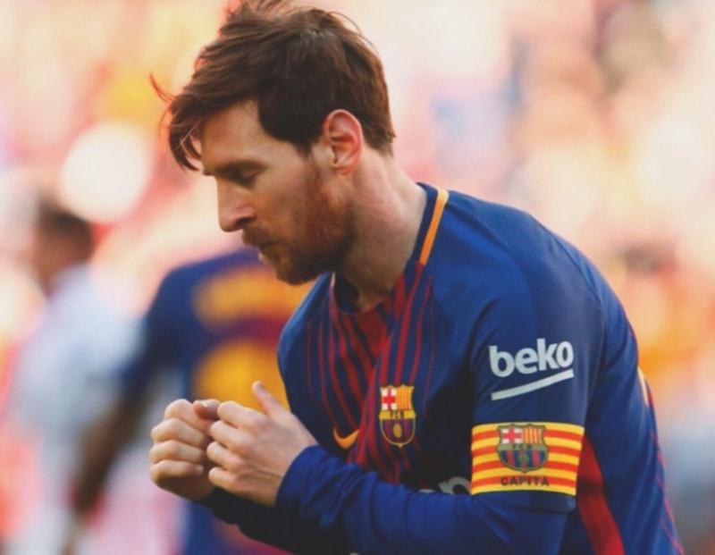 Messi, durante su 'bailecito'. / TWITTER