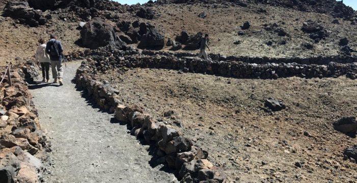Una senderista herida tras sufrir una caída en el Parque Nacional del Teide