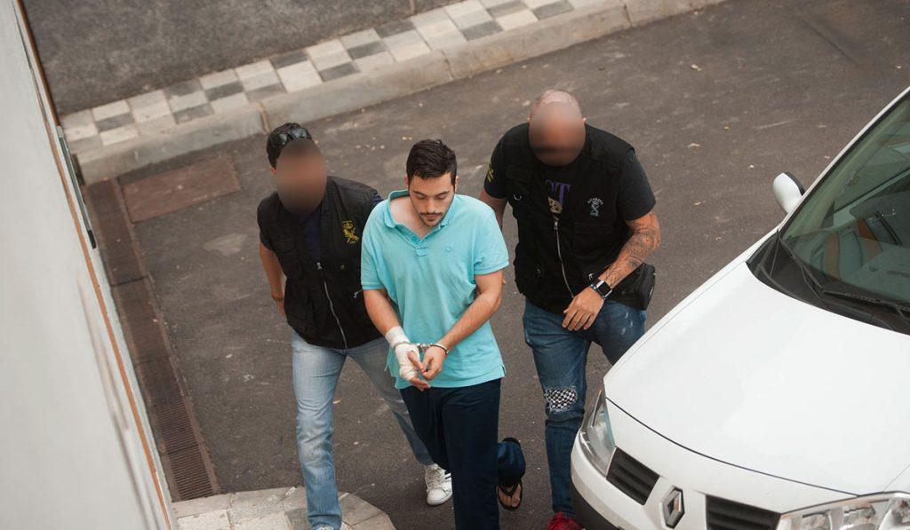 El detenido por el triple homicidio de Guaza, a disposición judicial. /Foto Fran Pallero