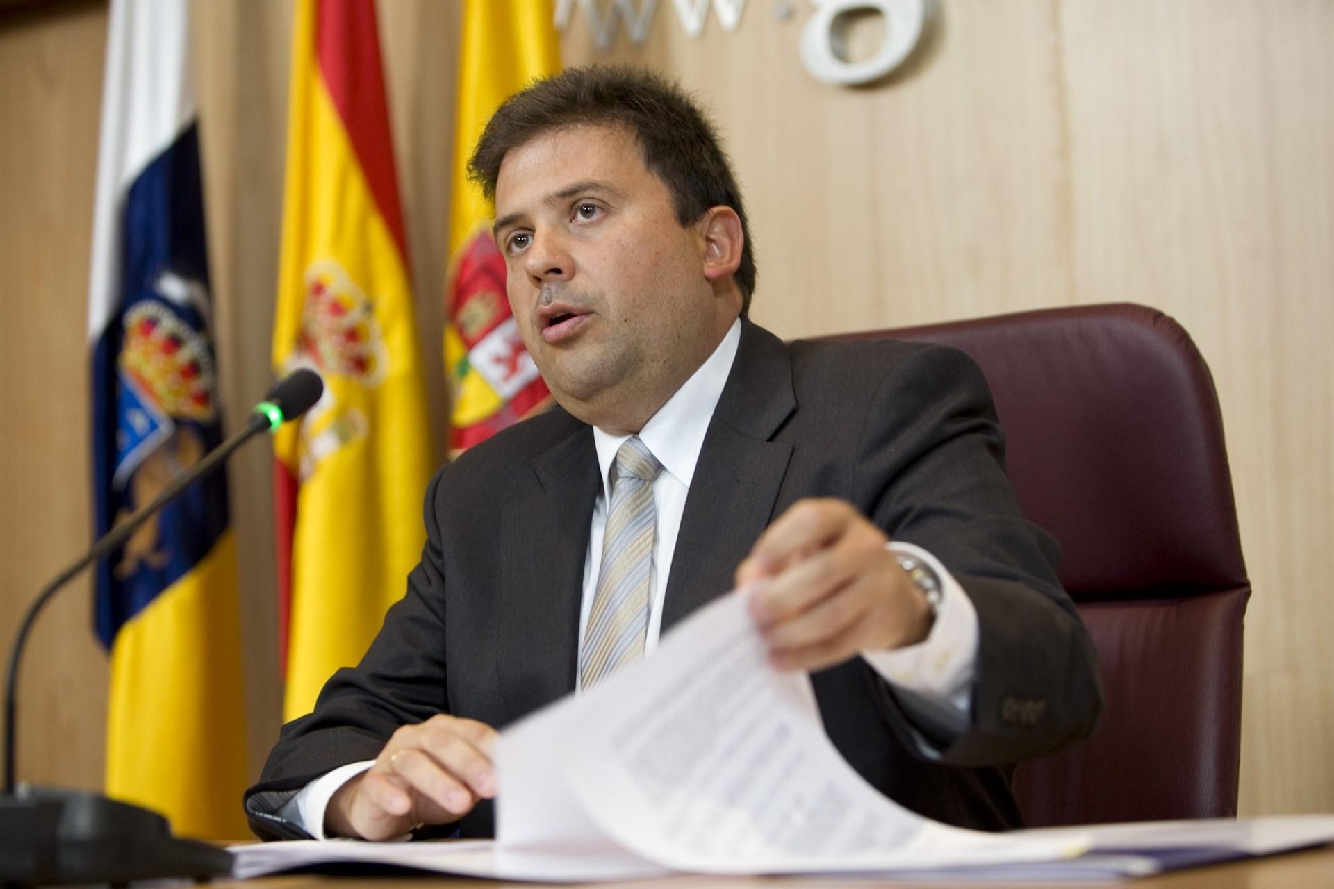 El presidente de la Autoridad Portuaria de Las Palmas, Luis Ibarra. FOTO: Cabildo de Gran Canaria