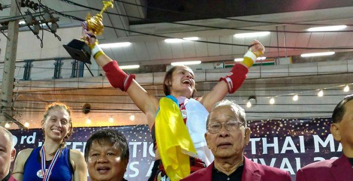 La tinerfeña Cathaysa Delgado se proclama campeona del mundo de Muay Thai Pro Am