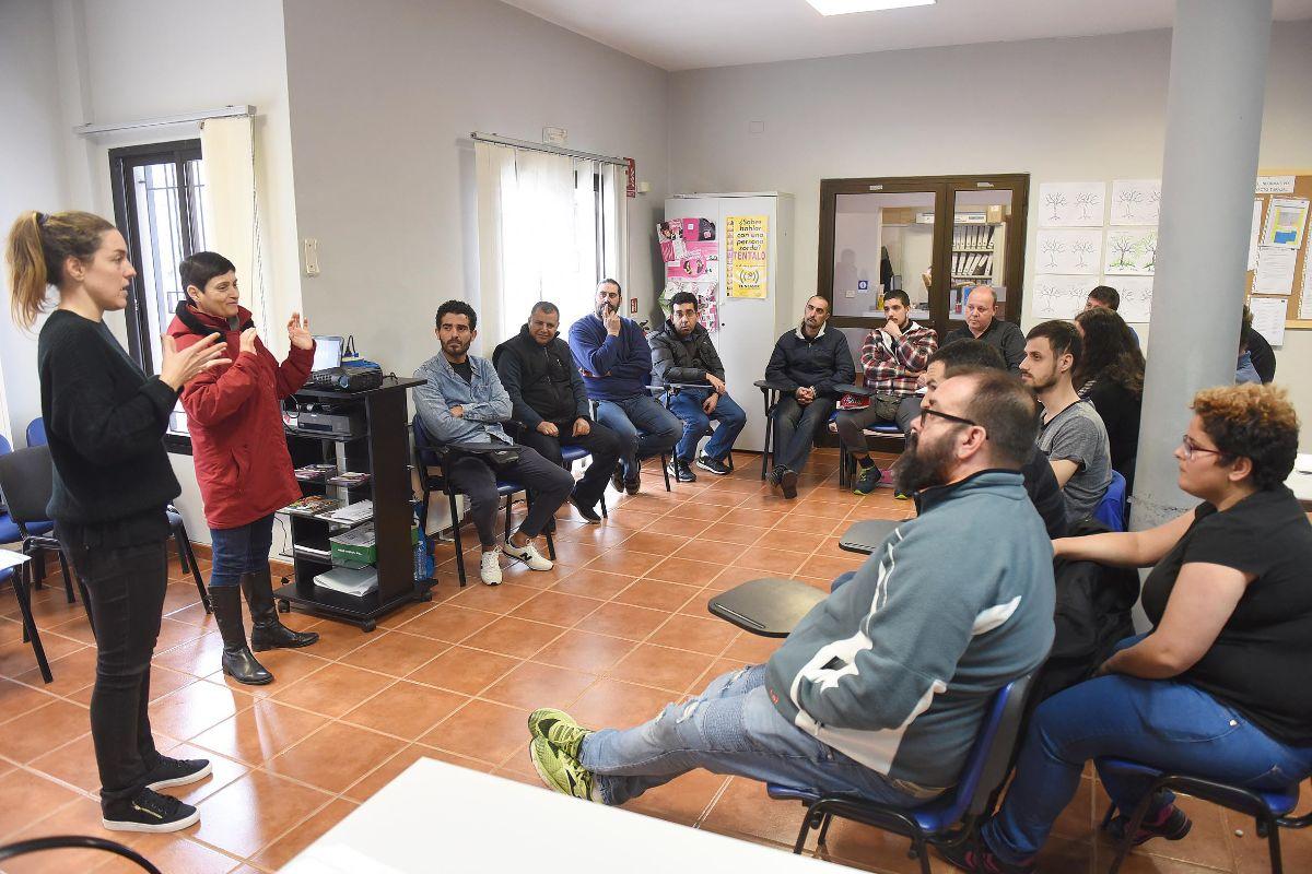 Los alumnos celebran sus clases en la sede de Funcasor, en el municipio de Tegueste. Sergio Méndez