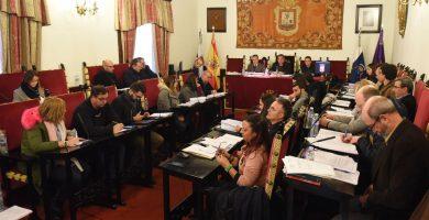 Imagen de una sesión del Pleno de La Laguna. Sergio Méndez