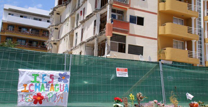 La juez que investiga el derrumbe de Los Cristianos reclama al Banco Santander los informes de las obras