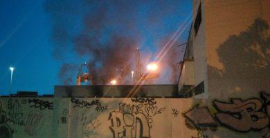 Incendio en el balneario de Santa Cruz. / POLICÍA LOCAL