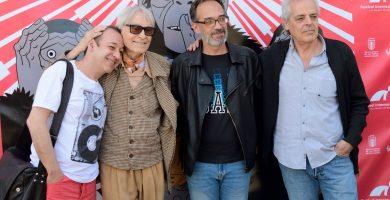 Sigfrid Monleón, Pepe Dámaso, Luis Miranda y Andrés Santana. Festival de Cine de Las Palmas