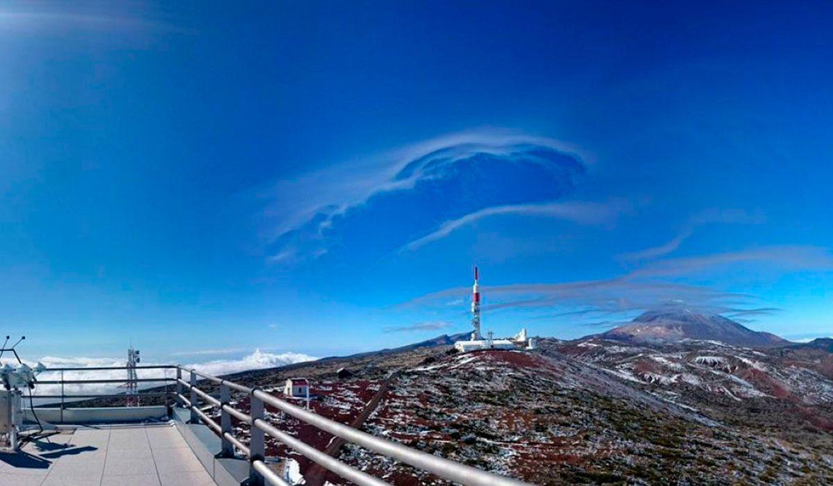El Centro de Investigación Atmosférica de Izaña (CIAI) está ubicado en la montaña homónima de Tenerife, muy cerca del pico Teide. DA