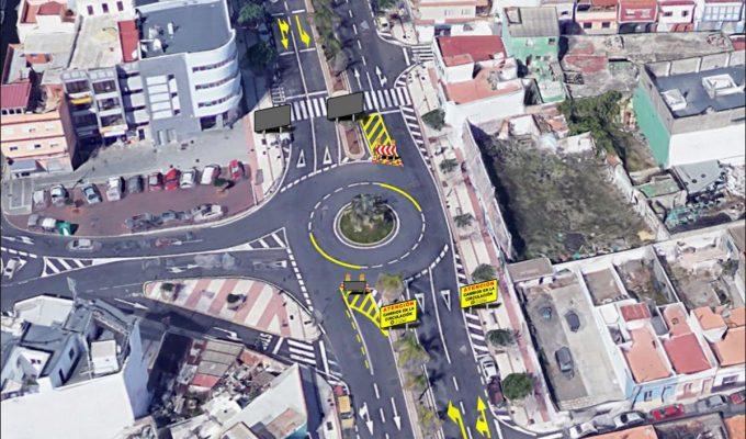 La rotonda reglada de Los Menceyes reduce la media de siniestralidad en la zona