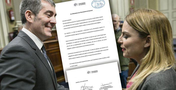 """Las portavoces de PSOE y Podemos acusan a Clavijo de """"ataques machistas"""""""
