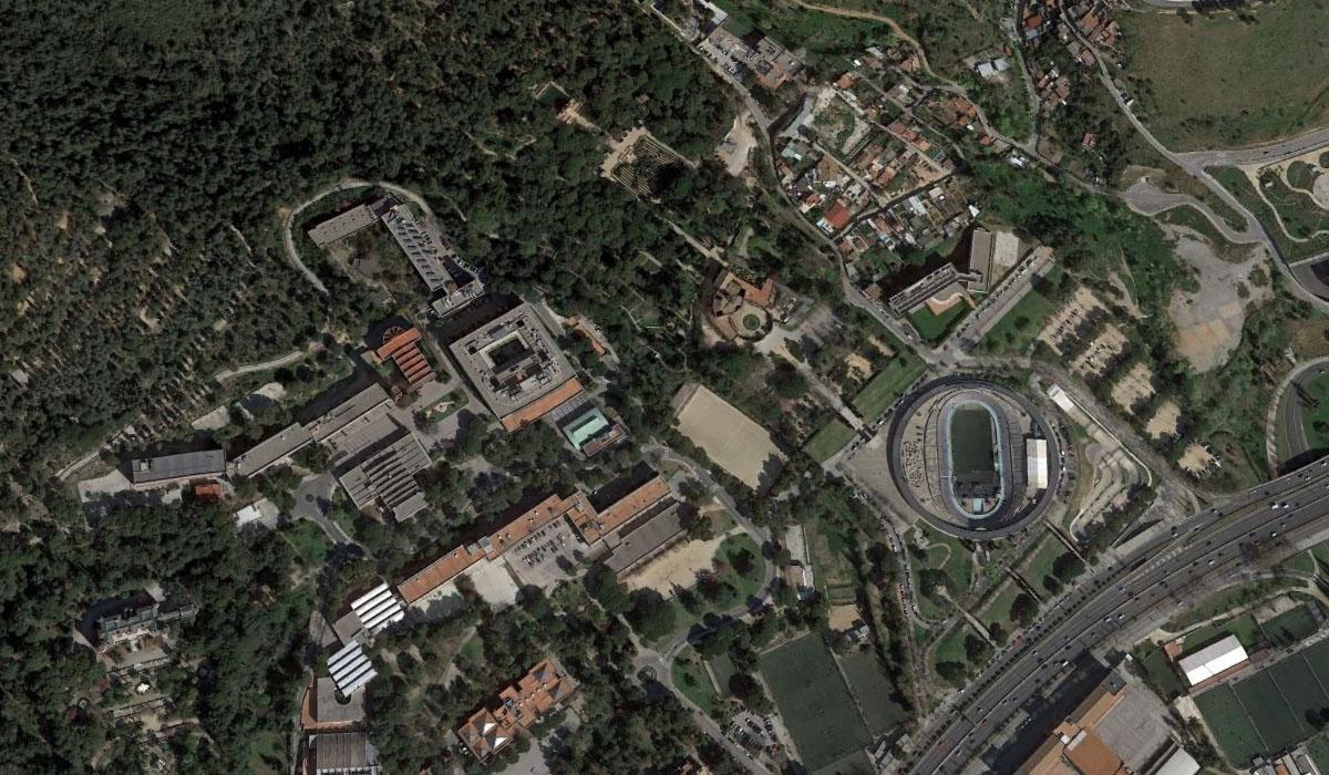 Zona del distrito de Horta-Guinardó, en Llars Mundet, donde se encontró el cadáver. Google Earth