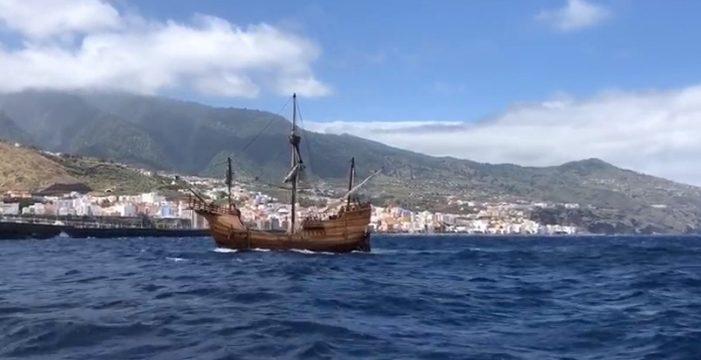 Así ha sido la llegada de la nao Santa María a La Palma
