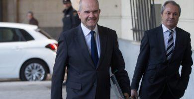 El expresidente andaluz Manuel Chaves, al llegar a declarar en el juicio de los ERE. | EP
