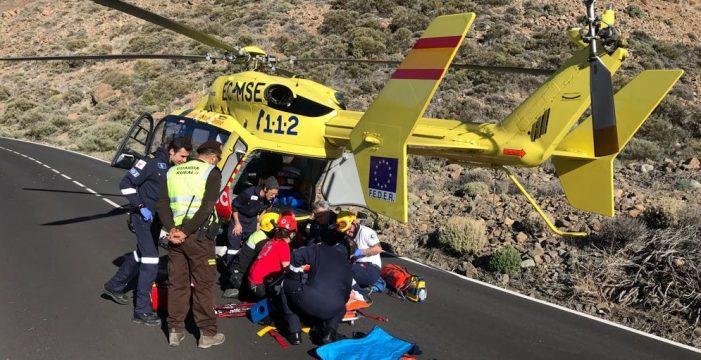 Varios heridos en un accidente de quad en el Teide