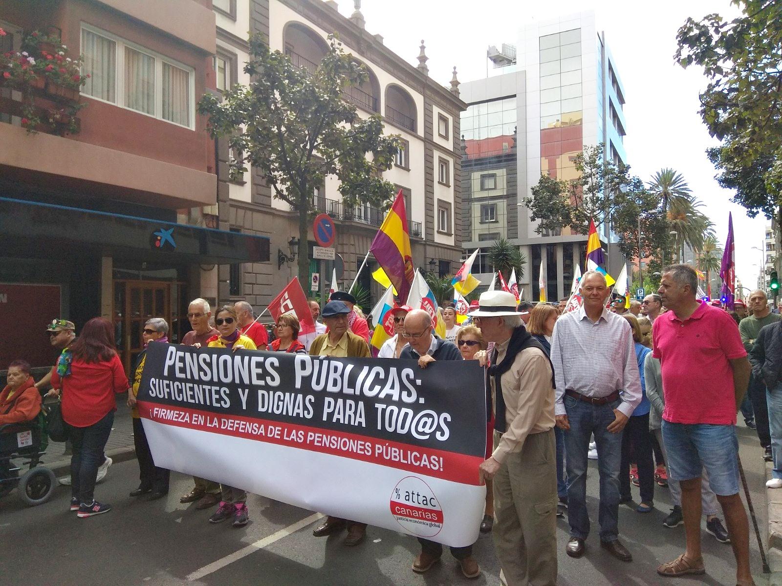 Manifestación por unas pensiones dignas en Las Palmas de Gran Canaria. / UGT