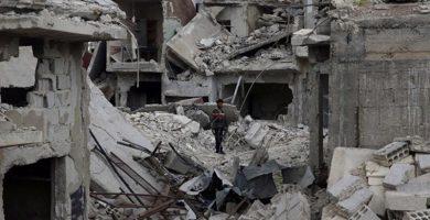 Ataque en la ciudad siria de Duma. / EP