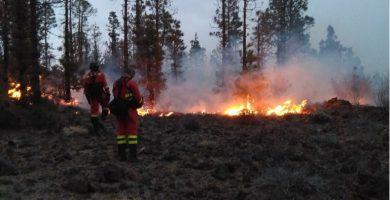 El incendio comenzó la noche del domingo y se espera que hoy pueda quedar controlado, con labores de tierra y aire. DA