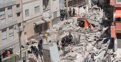 El derrumbe se produjo sobre las 9.30 horas del 14 de abril de 2016. F. P.