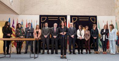 Intervención de Carolina Darias, presidenta del Parlamento de Canarias y de la Coprepa. DA