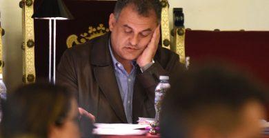 El alcalde de La Laguna, José Alberto Díaz Domínguez, durante el pleno municipal celebrado la semana pasada. Sergio Méndez