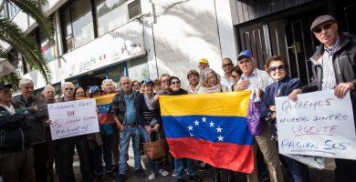 Los afectados han realizado varias protestas, ya que llevan más de 28 meses sin recibir la pensión. A. Gutiérrez