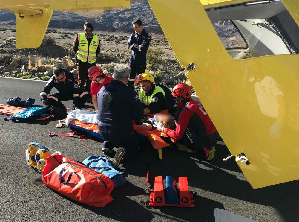 Accidente de quad en el Teide. / 112