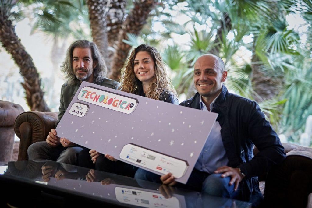 Joe Pérez, Miriam Rodríguez y el concejal de Promoción Económica del Ayuntamiento de Santa Cruz de Tenerife, Alfonso Cabello. | Foto: Andrés Gutiérrez