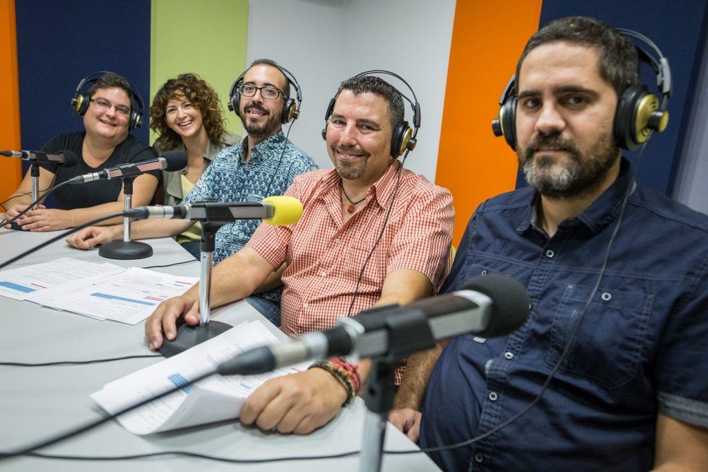 En la foto, Ruth Reyes, Patricia Villena, Enrique González, José Herrera y Juan Mosquera. | Foto: Andrés Gutiérrez