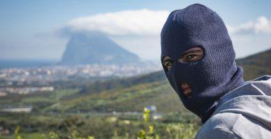 Imagen obtenida por EL ESPAÑOL de un narco en Campo de Gibraltar el mes pasado. Pedro Montes